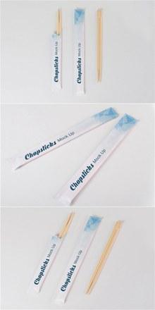 筷子包装模型样机psd免费下载