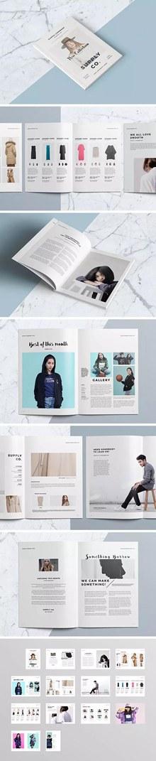时尚杂志画册设计模板psd图片