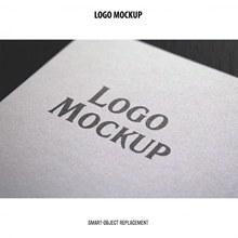 极简现代设计的logo展示样机psd分层素材