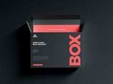 免费卡片盒样机模型分层素材