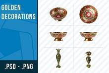 高贵奢华质感的装饰文物高清图片分层素材