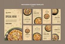 美味披萨INS模板psd免费下载