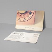 复古明信片样机模板psd分层素材