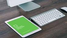 白色iPad样机模型psd分层素材