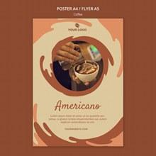 咖啡概念海报模板psd免费下载