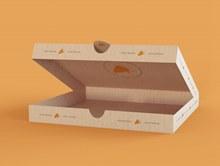 披萨盒包装样机模板psd素材