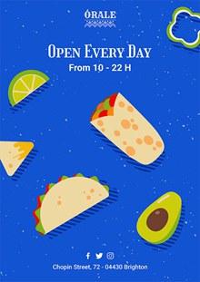 墨西哥美食海报设计psd图片