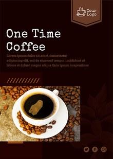 咖啡馆宣传海报psd免费下载