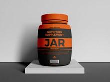 营养补充剂罐样机模型psd分层素材