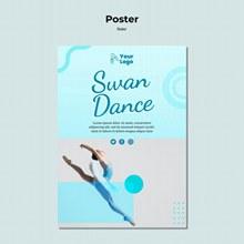芭蕾舞海报模板源文件psd下载
