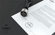 纸张的公司印章效果样机模板源文件psd素材