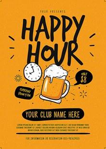 啤酒派对宣传单海报psd素材
