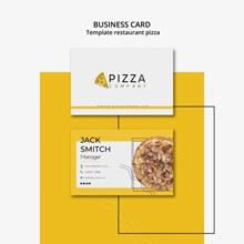 披萨店主题名片模板psd分层素材