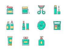 美妆产品系列图标psd素材