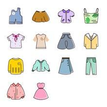 时尚服装图标分层素材