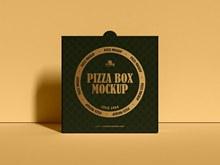 免费现代披萨盒包装样机模型psd图片