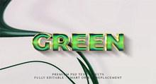 绿色效果立体字源文件psd素材