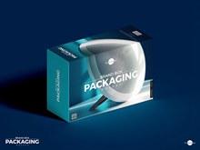 免费品牌包装盒样机模型psd下载