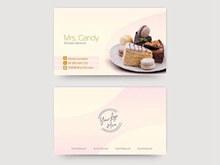 蛋糕店名片设计模板psd素材
