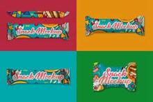 巧克力棒糖果包装外观设计效果图样机模板psd图片