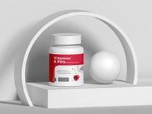 免费维生素和药瓶包装样机模型分层素材