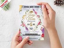 5x7设计师婚礼请柬模板分层素材
