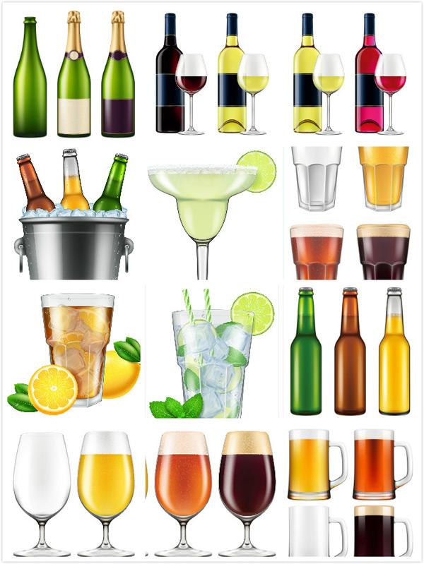 饮品矢量素材