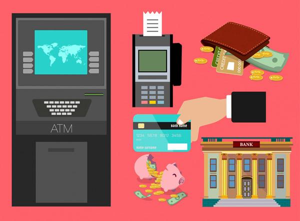 6款创意金融元素设计矢量图片