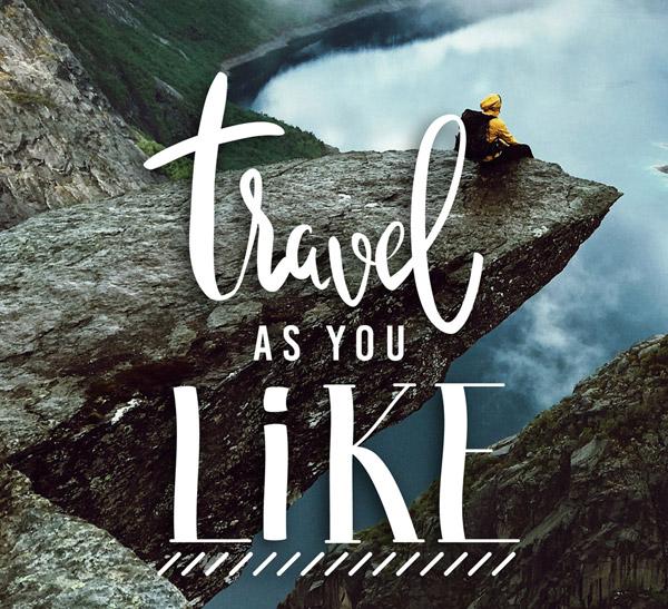 创意悬崖风景旅行海报图矢量素材