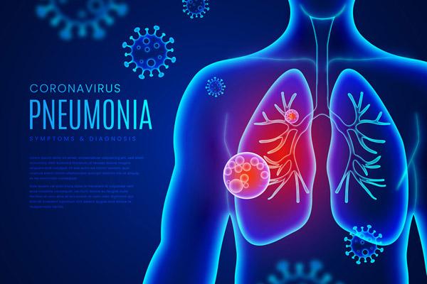 创意新冠肺炎人体概念图矢量图片