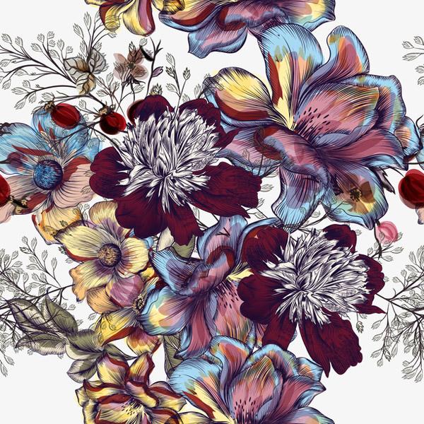鲜花矢量图片