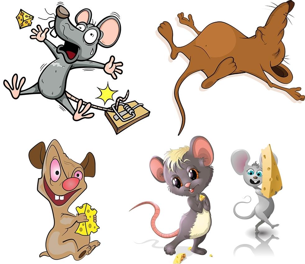 奶酪与卡通小老鼠主题集V1矢量下载
