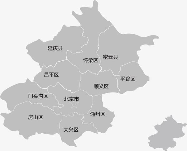 北京市地图矢量图片