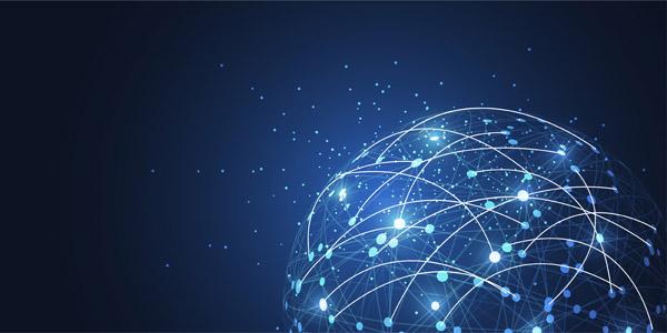 全球网络连接矢量