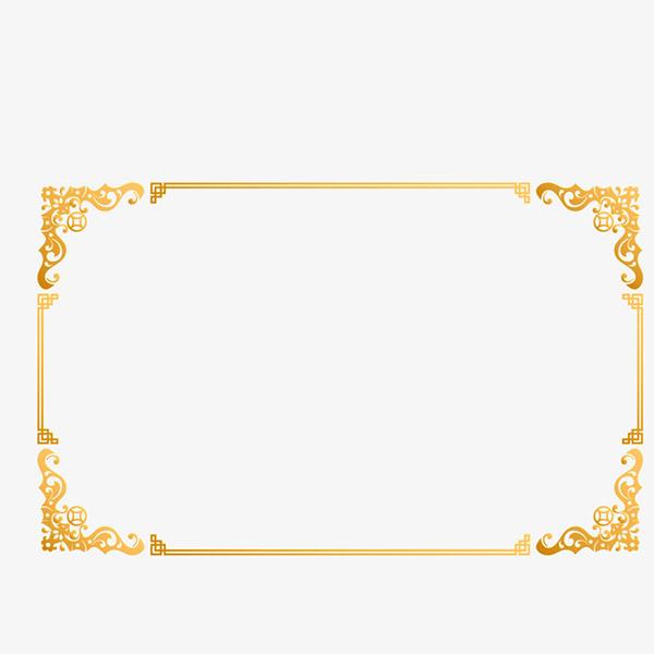 金色创意边框元素矢量