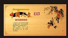 中国人文文化展板矢量图片