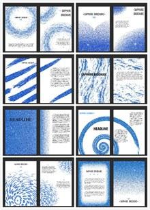 水彩墨点宣传册矢量图片