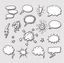 爆炸图形对话框矢量图