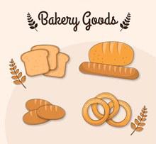 美味面包设计矢量图