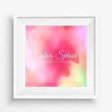 粉色水彩涂鸦挂画矢量图片