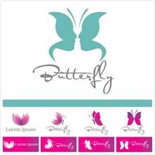 蝴蝶主题标志矢量图下载