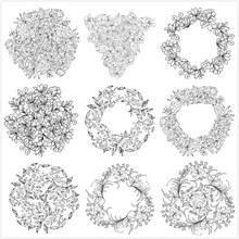 花卉造型矢量图片