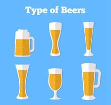 6款美味杯装啤酒矢量