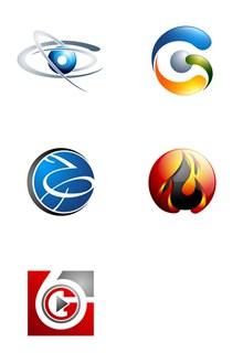 火苗等质感标志创意主题设计矢量图
