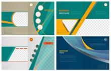 4款创意商务宣传画册封面图矢量图