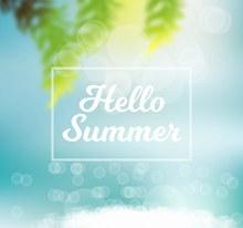 创意夏季阳光海滩矢量图下载