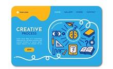 创意网站登陆页设计矢量图下载