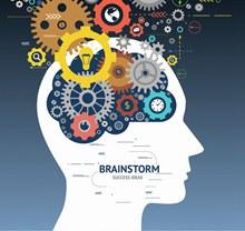 创意齿轮大脑设计矢量图