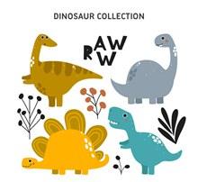 4款创意恐龙设计矢量