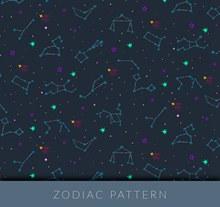 创意星座无缝背景矢量图片